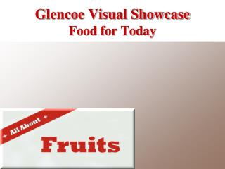 Glencoe Visual Showcase Food for Today