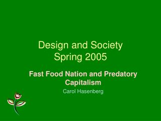 Design and Society Spring 2005