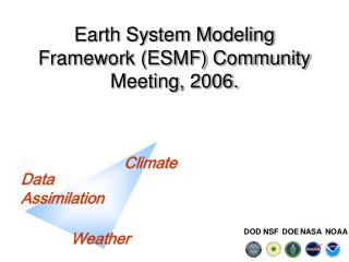 Earth System Modeling Framework (ESMF) Community Meeting, 2006.