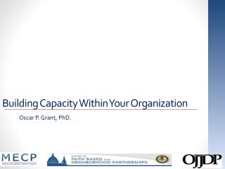 Building Capacity Within Your Organization