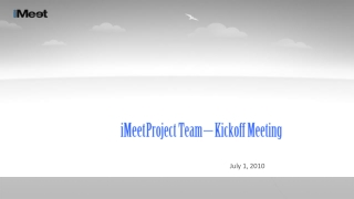 Project Team Kickoff Meeting