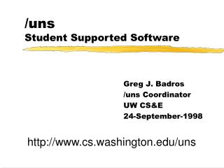 /uns Student Supported Software
