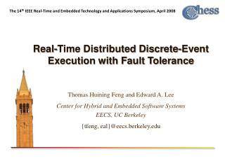 Real-Time Distributed Discrete-Event Execution with Fault Tolerance