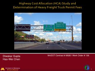 Highway Cost Allocation (HCA) Study  and Determination of Heavy Freight Truck Permit Fees