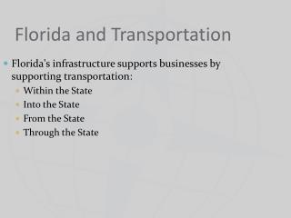 Florida and Transportation