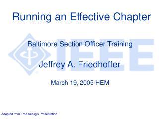 Running an Effective Chapter