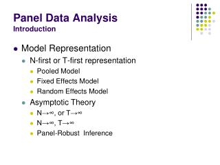Panel Data Analysis Introduction