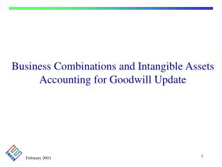 Business Combinations and Intangible Assets  Accounting for Goodwill Update
