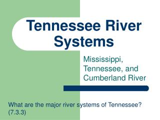 Tennessee River Systems