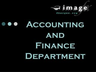 Accounting  and     Finance Department