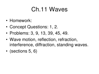 Ch.11 Waves