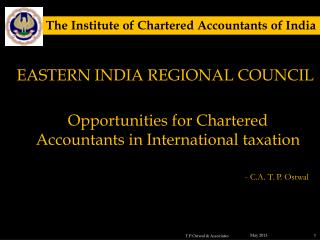 Opportunities for Chartered Accountants in International taxation
