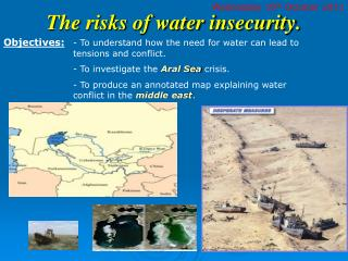 The risks of water insecurity.