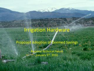 Irrigation Hardware