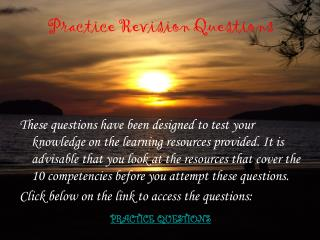 Practice Revision Questions