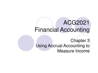 ACG2021 Financial Accounting