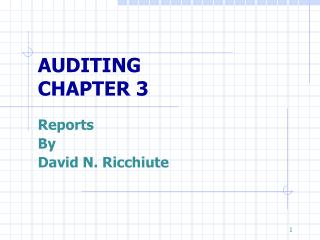 AUDITING CHAPTER 3