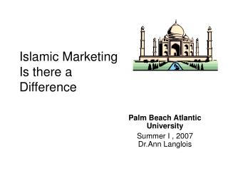 Islamic Marketing Is there a Difference