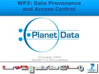 WP3: Data Provenance and Access Control