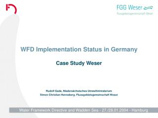 WFD Implementation Status in Germany