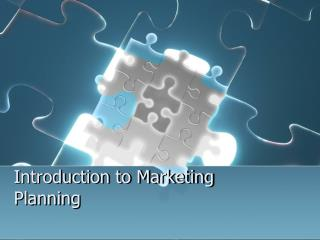 Introduction to Marketing Planning