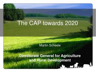 The CAP towards 2020