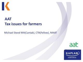 AAT Tax issues for farmers