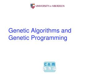 Genetic Algorithms and Genetic Programming