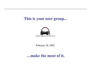 This is your user group...