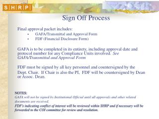 Sign Off Process