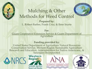 Mulching & Other  Methods for Weed Control