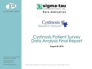 Cystinosis Patient Survey Data Analysis Final Report