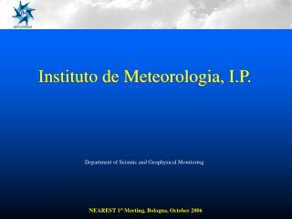 Instituto de Meteorologia, I.P.