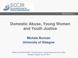 Domestic Abuse, Young Women and Youth Justice
