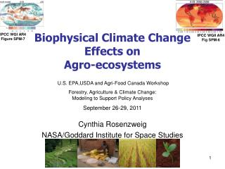 Biophysical Climate Change Effects on  Agro-ecosystems