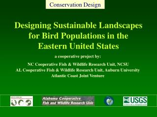 Designing Sustainable Landscapes for Bird Populations in the Eastern United States