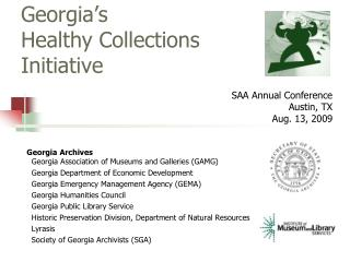Georgia's  Healthy Collections Initiative