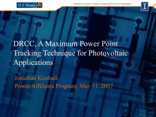 DRCC, A Maximum Power Point Tracking Technique for Photovoltaic Applications