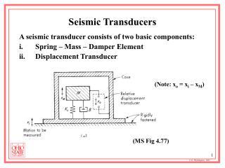 Seismic Transducers
