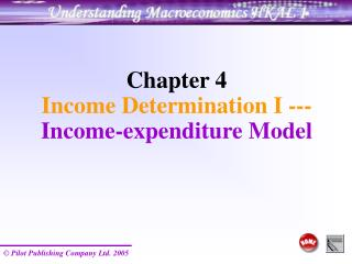Chapter 4  Income Determination I --- Income-expenditure Model