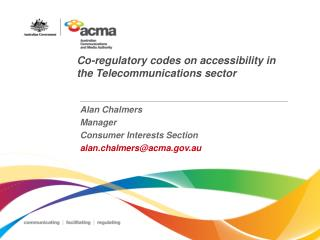 Co-regulatory codes on accessibility in the Telecommunications sector