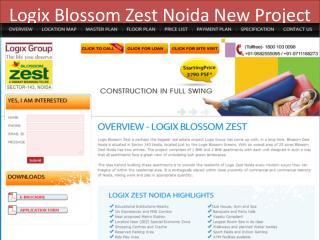 Logix Zest !! Logix Zest Noida !! Logix Blossom Zest