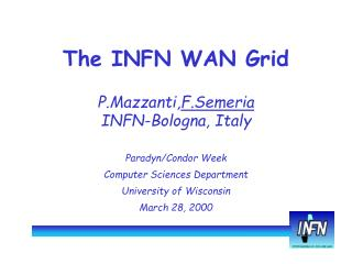 The INFN WAN Grid