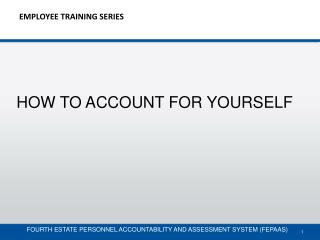 EMPLOYEE TRAINING SERIES