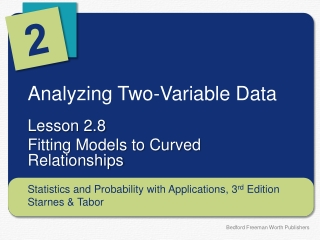 Analyzing Two-Variable Data
