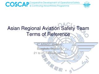 Asian Regional Aviation Safety Team Terms of Reference