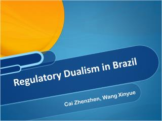 Regulatory Dualism in Brazil