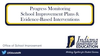 Progress Monitoring School Improvement Plans & Evidence-Based Interventions