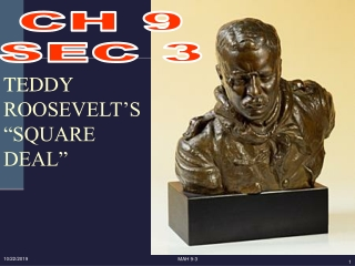 """TEDDY ROOSEVELT'S """"SQUARE DEAL"""""""