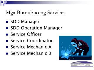 Mga Bumubuo ng Service: